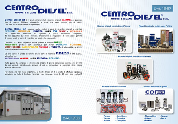 Centro Diesel srl, Yanmar engine distributor, Perkins and